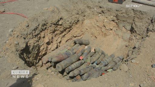 15 Tonnen Kriegsmaterial in Allentsteig gesprengt